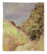 Chemin De La Cavee Pourville Fleece Blanket
