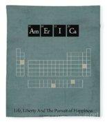 Chemistry Of A Nation Fleece Blanket