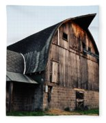 Chequamegon National Forest Barn Fleece Blanket