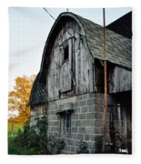 Chequamegon National Forest Barn Portrait Fleece Blanket