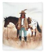 Cherokee Lighthorse Fleece Blanket