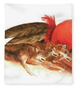 Cherokee Wolves Fleece Blanket