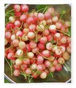 Cherries 8 Fleece Blanket