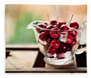 Cherries Fleece Blanket