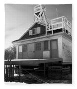 Cherry Beach Boat House Fleece Blanket