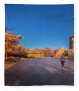 Cherry Blossom At The Mlk Monument Fleece Blanket