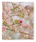 Cherry Blossom Delight Fleece Blanket