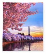 Cherry Blossom Festival  Fleece Blanket