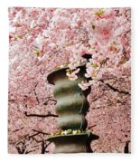 Cherry Blossom In Stockholm Fleece Blanket