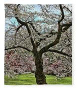 Cherry Blossom Trees Of Branch Brook Park 31 Fleece Blanket