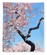 Cherry Blossom Trilogy II Fleece Blanket