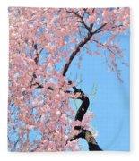 Cherry Blossom Trilogy IIi Fleece Blanket