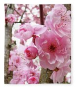 Cherry Blossoms Art Prints 12 Cherry Tree Blossoms Artwork Nature Art Spring Fleece Blanket