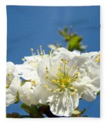 Cherry Blossoms Art White Spring Tree Blossom Baslee Troutman Fleece Blanket