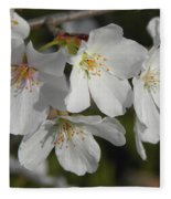 Cherry Blossoms II Fleece Blanket