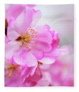 Cherry Blossoms Sweet Pink Fleece Blanket