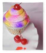 Cherry Cupcake Fleece Blanket