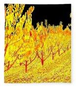 Cherry Orchard Fleece Blanket