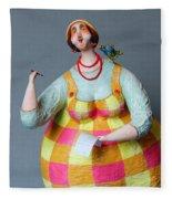 Cherry Poems Fleece Blanket