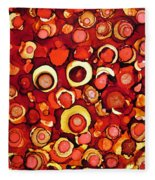 Cherry Tarts Fleece Blanket