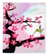 Cherry Tree Fleece Blanket