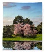 Cherry Tree Reflections Fleece Blanket