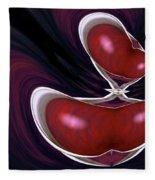 Cherry Wood Fleece Blanket