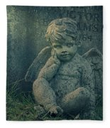 Cherub Lost In Thoughts Fleece Blanket