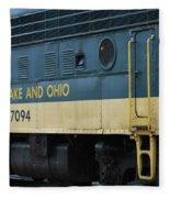 Chesapeake And Ohio Boxcar  Fleece Blanket