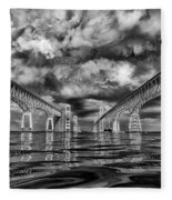 Chesapeake Bay Bw Fleece Blanket
