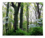 Chesapeake Oldgrowth Forest Fleece Blanket