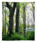 Chesapeake Oldgrowth Forest Fleece Blanket