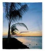 Chesapeake Sunset - Full Color Fleece Blanket