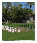 Chess At The Biltmore Fleece Blanket