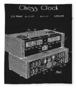 Chess Clock Patent Fleece Blanket