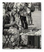 Chess Player Fleece Blanket