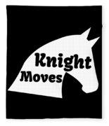 Chess Player Gift Knight Moves Horse Lover Chess Lover Fleece Blanket