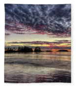 Chesterman Beach Sunset Fleece Blanket