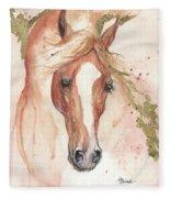 Chestnut Arabian Horse 2016 08 02 Fleece Blanket
