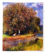 Chestnut Tree Blooming 1881 Fleece Blanket