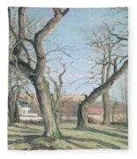 Chestnut Trees At Louveciennes Fleece Blanket