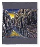 Chevlon Canyon Owl Fleece Blanket