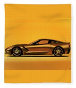 Chevrolet Corvette Stingray 2013 Painting Fleece Blanket