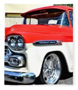 Chevy Apache Custom Hot Rod Truck Fleece Blanket