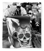 Chevy Decor Day Of Dead Bw Fleece Blanket