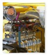Chevy Motor Fleece Blanket