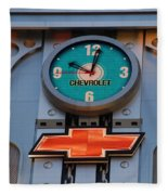 Chevy Times Square Clock Fleece Blanket