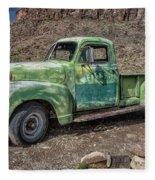 Chevy Truck Route 66 Fleece Blanket