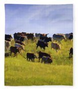 Cheyenne Cattle Roundup Fleece Blanket
