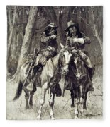 Cheyenne Scouts Patrolling The Big Timber Of The North Canadian, Fleece Blanket